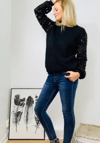 Pull Virginie - Manches sequins