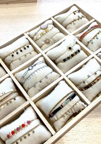 Bijoux en acier inoxydable doré ou argenté