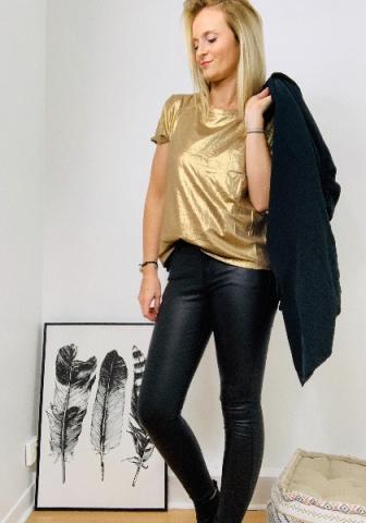 Tee shirt Amélie -doré