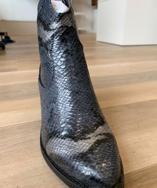 Bottines - Effet python gris bleuté