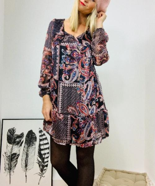 Robe Justine -  Motif cachemire